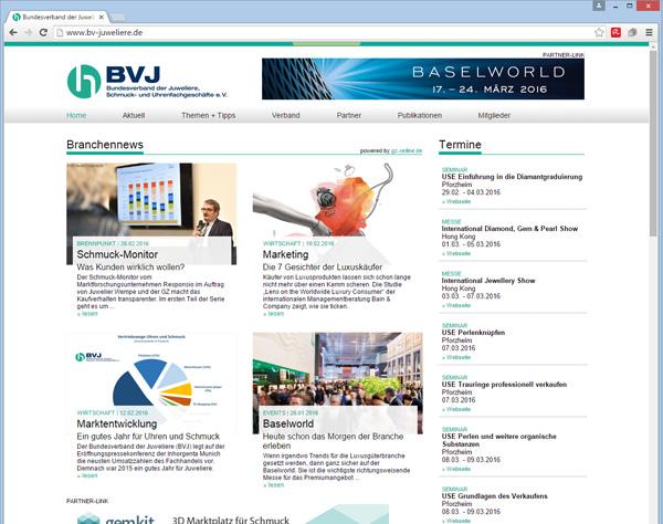 Neuer Webauftritt des BVJ